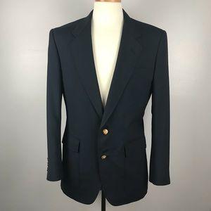 Hart Schaffner & Marx Navy Sport Coat Suit Jacket